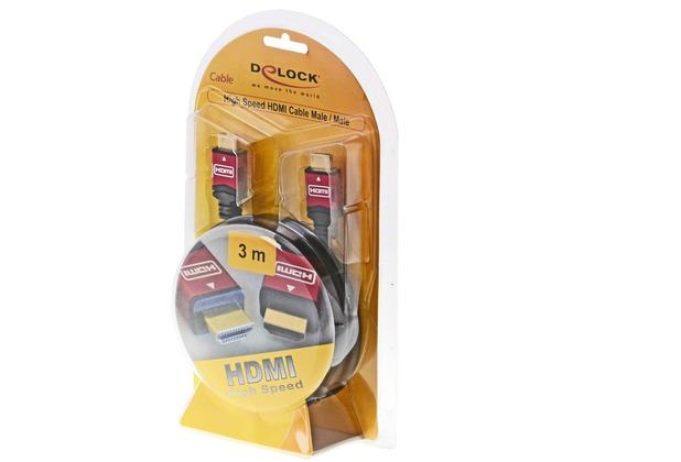 DeLock Kabel High Speed HDMI - HDMI A Stecker>HDMI A Stecker