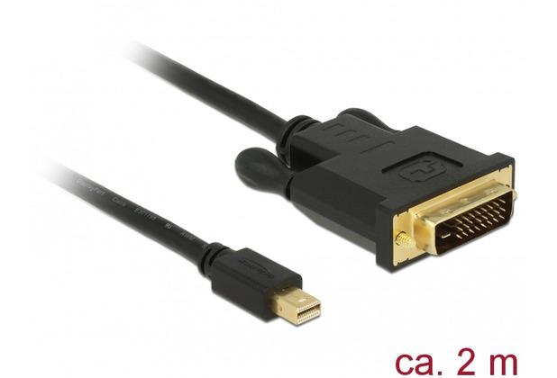 DeLock Kabel mini Displayport 1.1 Stecker > DVI 24+1 Stecker schwarz 2 m