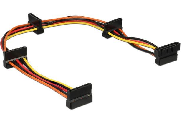 DeLock Kabel Powersplitter SATA 15 Pin Stecker > 4 x SATA 15