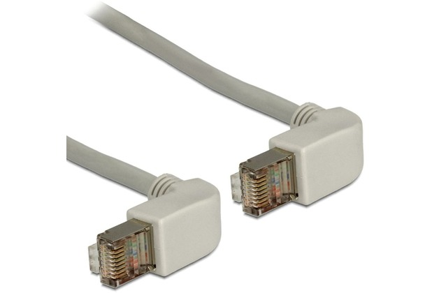 DeLock Kabel RJ45 Cat 6 SSTP gewinkelt/gewinkelt 1,0 m