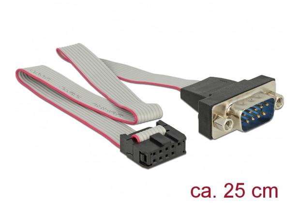 DeLock Kabel RS-232 Seriell Pfostenbuchse zu DB9 Stecker Belegung 1:1