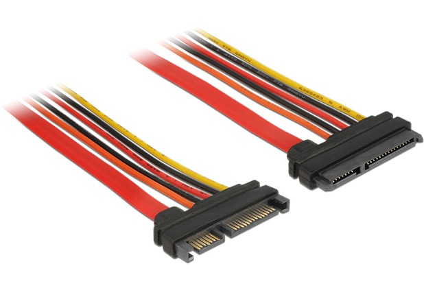 DeLock Kabel SATA 6 Gb/s 22 Pin Stecker > SATA 22 Pin Buchse