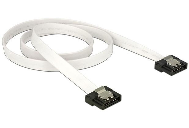 DeLock Kabel SATA FLEXI 6Gb/s 50 cm weiß Metall