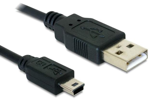DeLock Kabel USB 2.0-A > USB mini-B 5 Pin 1 m