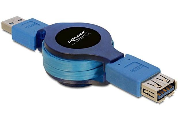 DeLock Kabel USB 3.0 Verlängerung mit Aufroll funktion