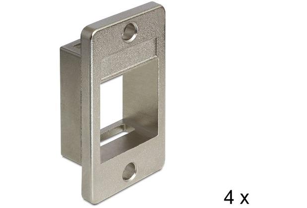 DeLock Keystone Halterung 1 Port für Geräteeinbau 4 Stück