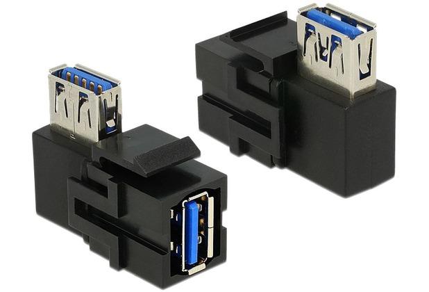 DeLock Keystone USB3.0 A Buchse > USB3.0 A Buchse 90°