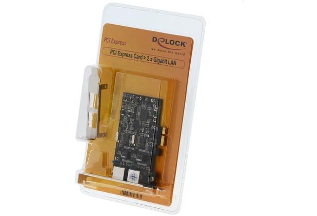 DeLock PCI Express Karte > 2 x Gigabit LAN