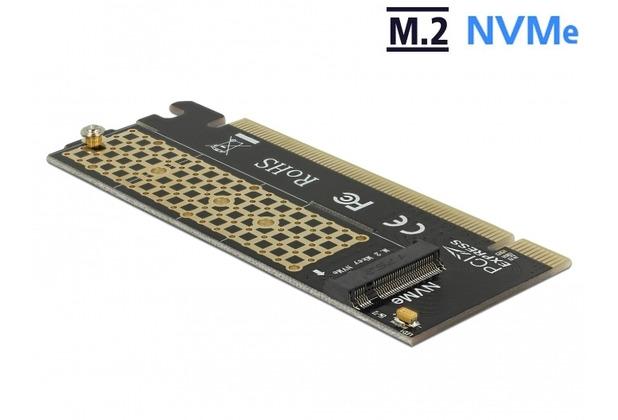 DeLock PCI Express x16 Karte zu 1 x NVMe M.2 Key M für Server