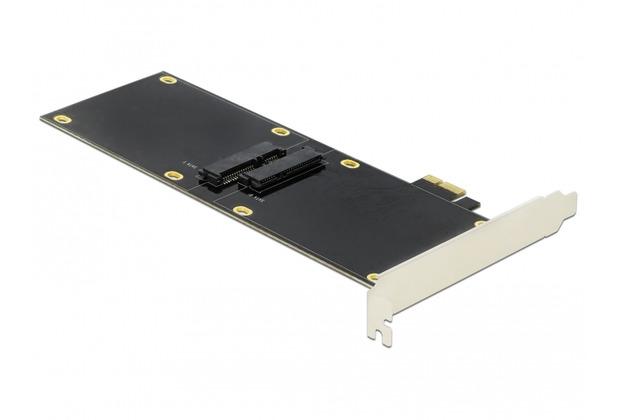DeLock PCI Express x1 Karte für 2 x SATA HDD / SSD einseitig