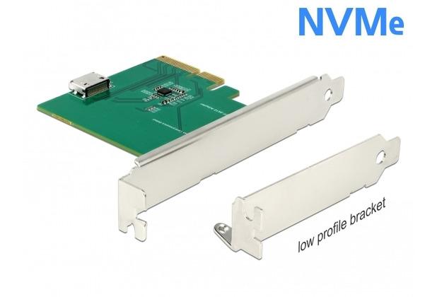 DeLock PCI Express x4 Karte zu 1 x OCuLink SFF-8612 - Low Profile Formfaktor
