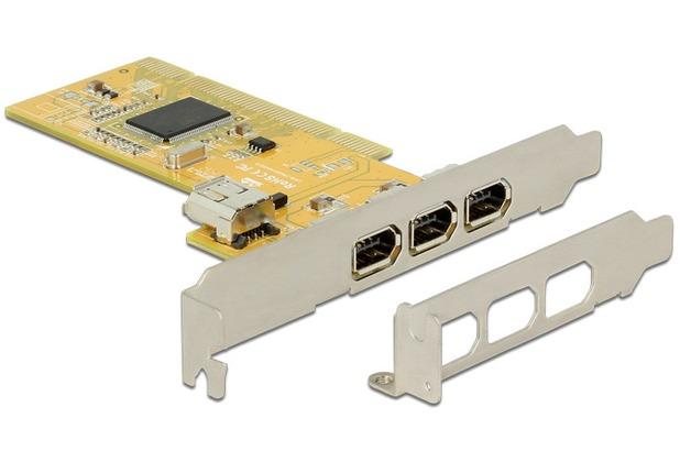 DeLock PCI Karte > 3 x extern + 1 x intern FireWire A mit
