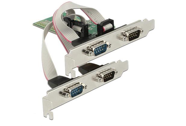 DeLock PCIe x1 > 4 x Seriell RS-232