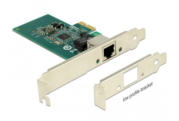 DeLock PCIe x1 Gigabit LAN 1x RJ45 +Low Profile i210