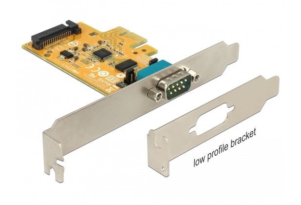 DeLock PCIe x1 Seriell 1x RS-232 mit Spannungsversorgung