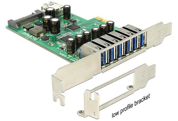 DeLock PCIe x1 USB 3.0 7 Port inkl. LP NEC