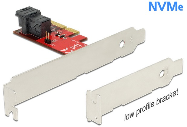 DeLock PCIe x4 > 1 x SFF-8643 NVMe Delock - Low Profile Form