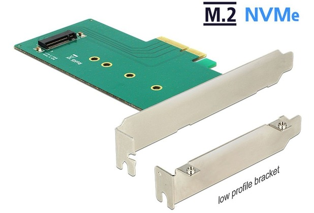 DeLock PCIe x4 > 1x M.2 Key M NVMe Low Profile Form Faktor