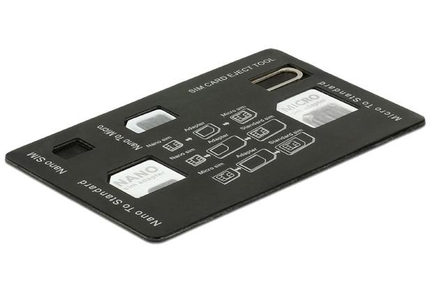 DeLock SIM Karten Adapterset 4 in 1