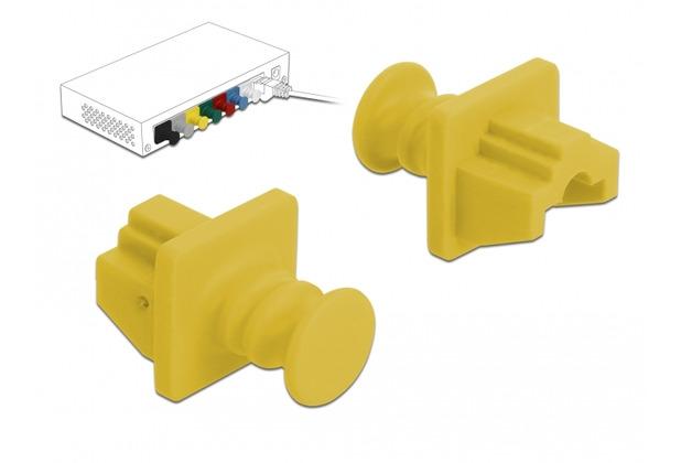 DeLock Staubschutz für RJ45 Buchse 10 Stück gelb