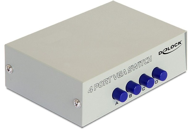 DeLock Switch 4-port VGA manuell bidirektional