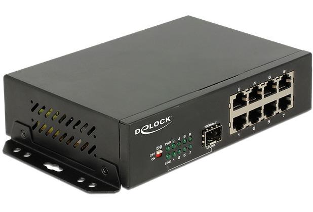 DeLock Switch Gigabit 8 Port RJ45 + 1 SFP