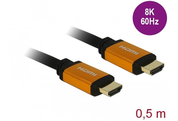 DeLock Ultra High Speed HDMI Kabel 48 Gbps 8K 60 Hz 0,5 m