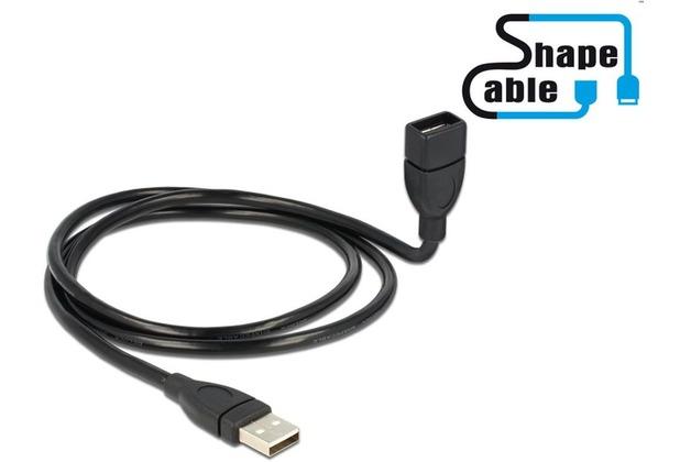 DeLock USB 2.0-A Stecker>Buchse ShapeCable 100 cm