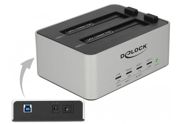 DeLock USB 3.0 Dual Dockingstation für 2 x SATA HDD / SSD