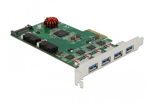 DeLock USB 3.0 PCI Express Karte zu 4 x extern Type-A + 2x intern Pfostenstecker
