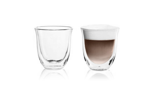 Delonghi Cappuccino 2er Doppelwandiges Thermoglas