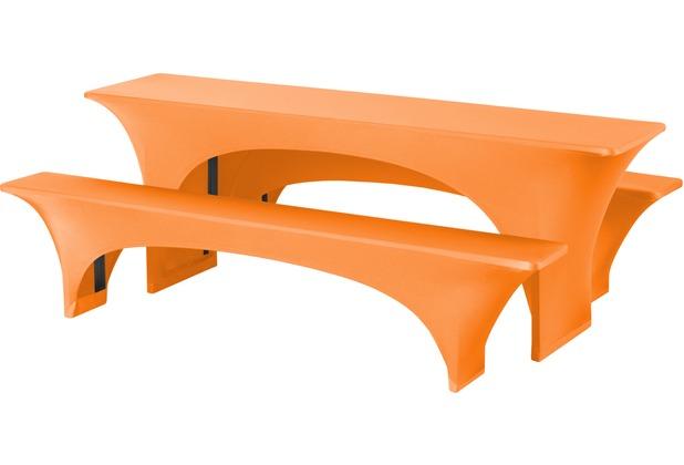 Dena Festzeltgarnituren Fortune E-J 220x50cm Orange