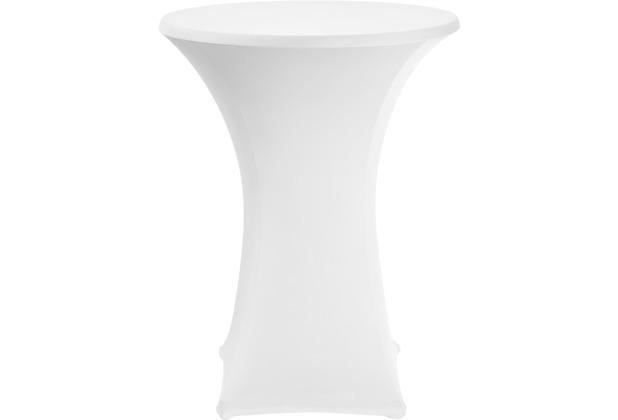 Dena Stehtischhusse Basic PL Ø70-85cm weiß