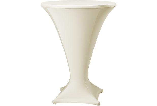 Dena Stehtischhusse Cocktail D1 Ø 80-85 cm, creme
