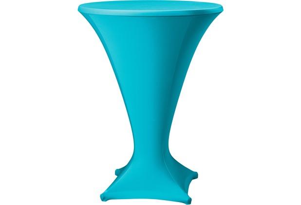 Dena Stehtischhusse Cocktail D1 Ø 80-85 cm, blau hell