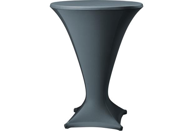 Dena Stehtischhusse Cocktail D1 Ø 80-85 cm, grau dunkel