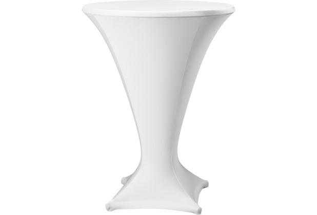 Dena Stehtischhusse Cocktail D1 Ø 80-85 cm, weiß