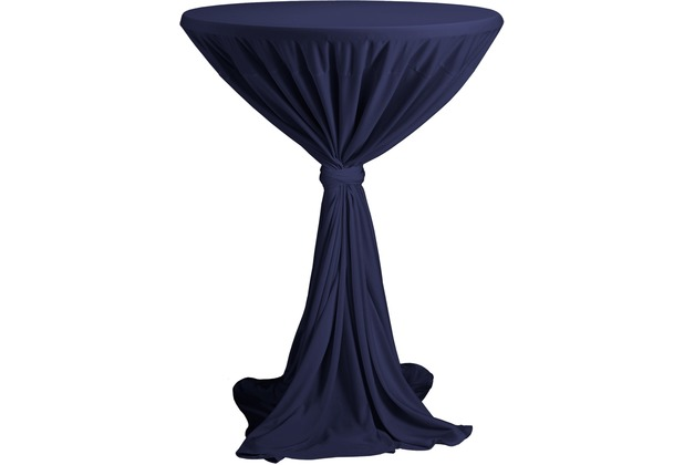 Dena Stehtischhusse Party D1 Ø 80-90 cm, blau dunkel