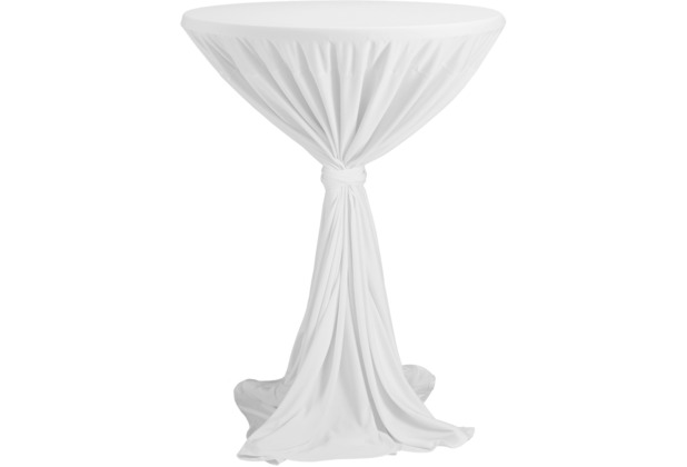 Dena Stehtischhusse Party D1 Ø 80-90 cm, weiß