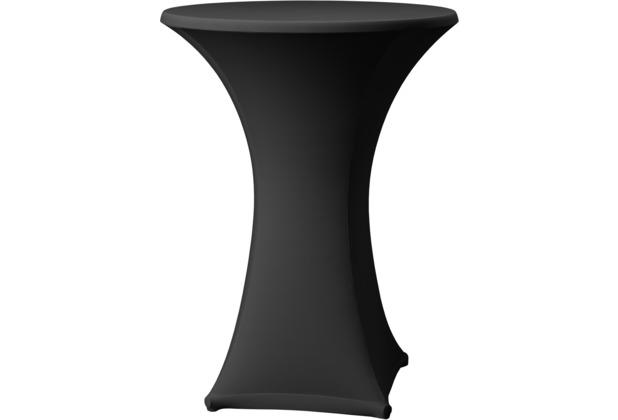 Dena Stehtischhusse Samba D1 schwarz mit Tischplattenbezug Ø 60 cm