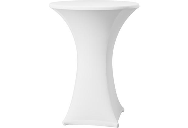 Dena Stehtischhusse Samba D1 weiß hell mit Tischplattenbezug Ø 60 cm