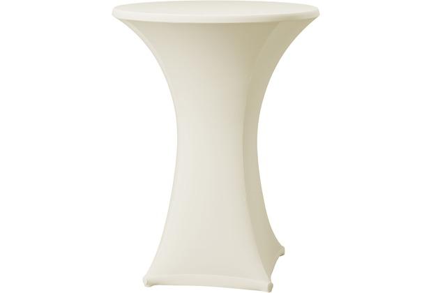 Dena Stehtischhusse Samba D1, champagne mit Tischplattenbezug Ø 70 cm