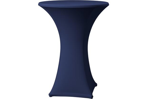 Dena Stehtischhusse Samba D1 blau dunkel mit Tischplattenbezug Ø 70 cm