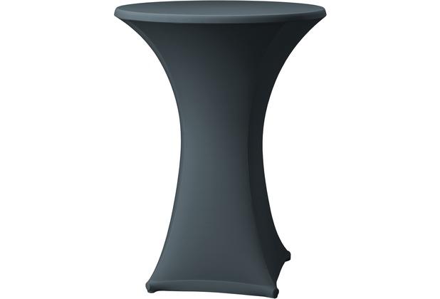Dena Stehtischhusse Samba D1 grau dunkel mit Tischplattenbezug Ø 70 cm