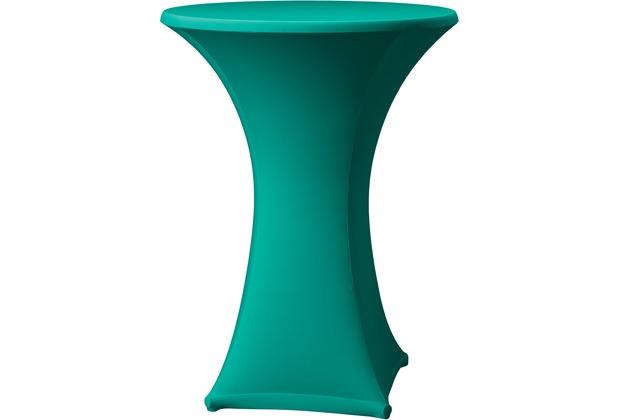 Dena Stehtischhusse Samba D1 grün dunkel mit Tischplattenbezug Ø 70 cm