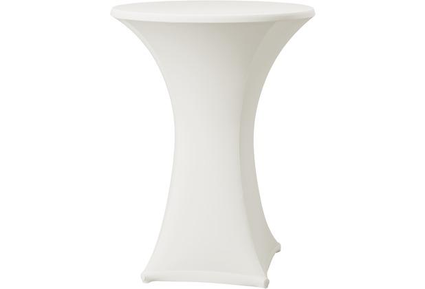 Dena Stehtischhusse Samba D1 Ø 70 cm, weiß dunkel mit Tischplattenbezug