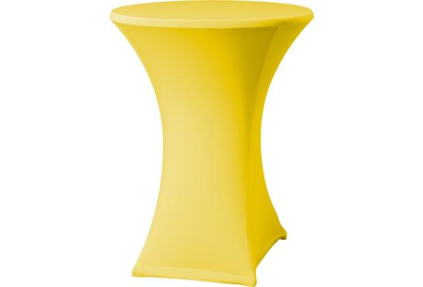 Dena Stehtischhusse Samba D2 Ø 70 cm, gelb mit Tischplattenbezug
