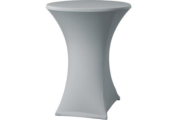 Dena Stehtischhusse Samba D2 grau hell mit Tischplattenbezug Ø 70 cm