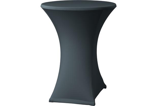 Dena Stehtischhusse Samba D2 grau dunkel mit Tischplattenbezug Ø 70 cm
