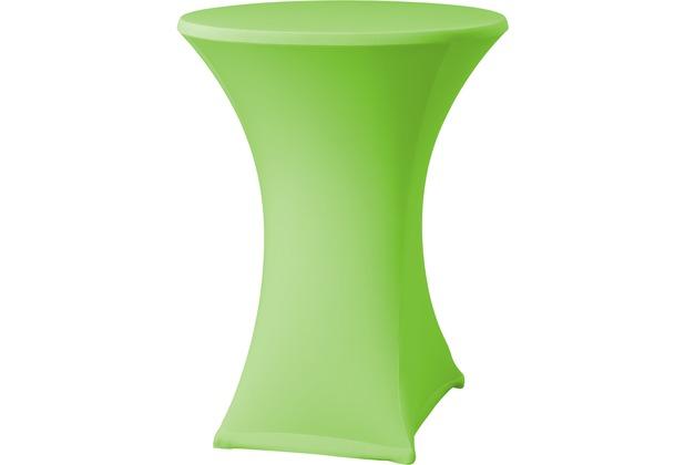 Dena Stehtischhusse Samba D2 grün hell mit Tischplattenbezug Ø 70 cm